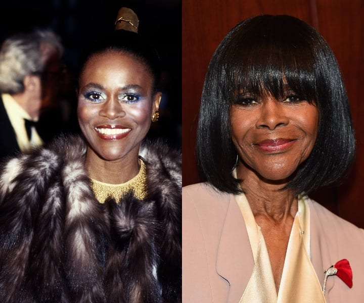 Cicely Tyson in her youth and current