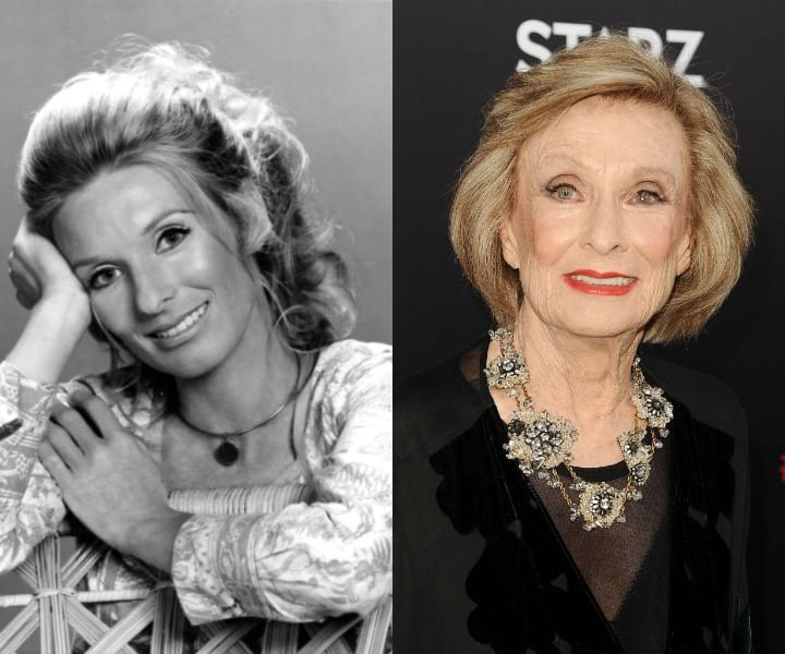 Cloris Leachman in her youth and present
