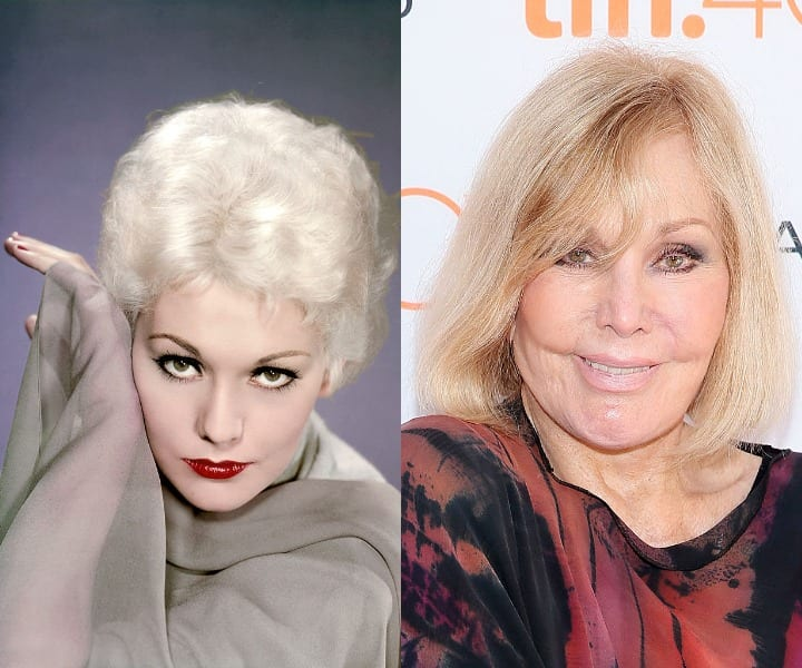 Kim Novak in her youth and now