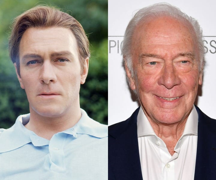 Christopher Plummer in his youth and at present