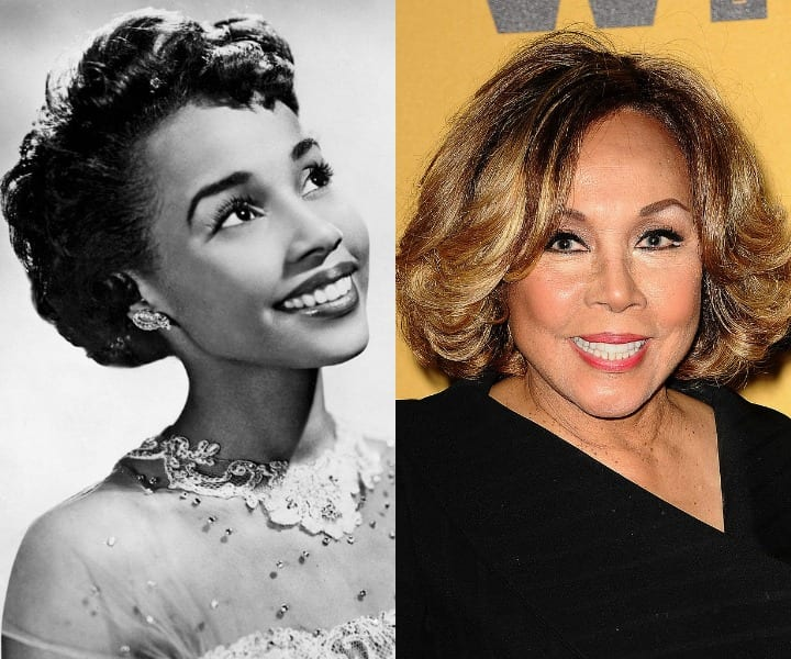 Diahann Carroll in her youth and now