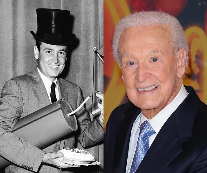 Bob Barker in his youth and now