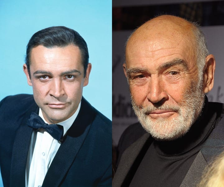 Sean Connery as James Bond and current