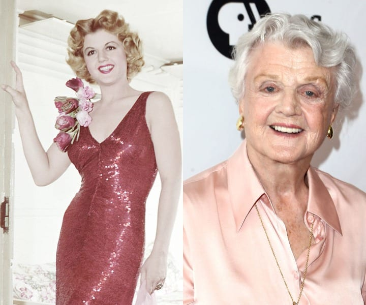 Angela Lansbury in her youth and current