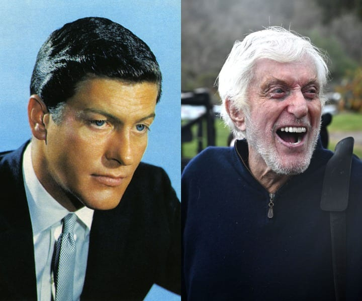 Dick van Dyke in his youth and current
