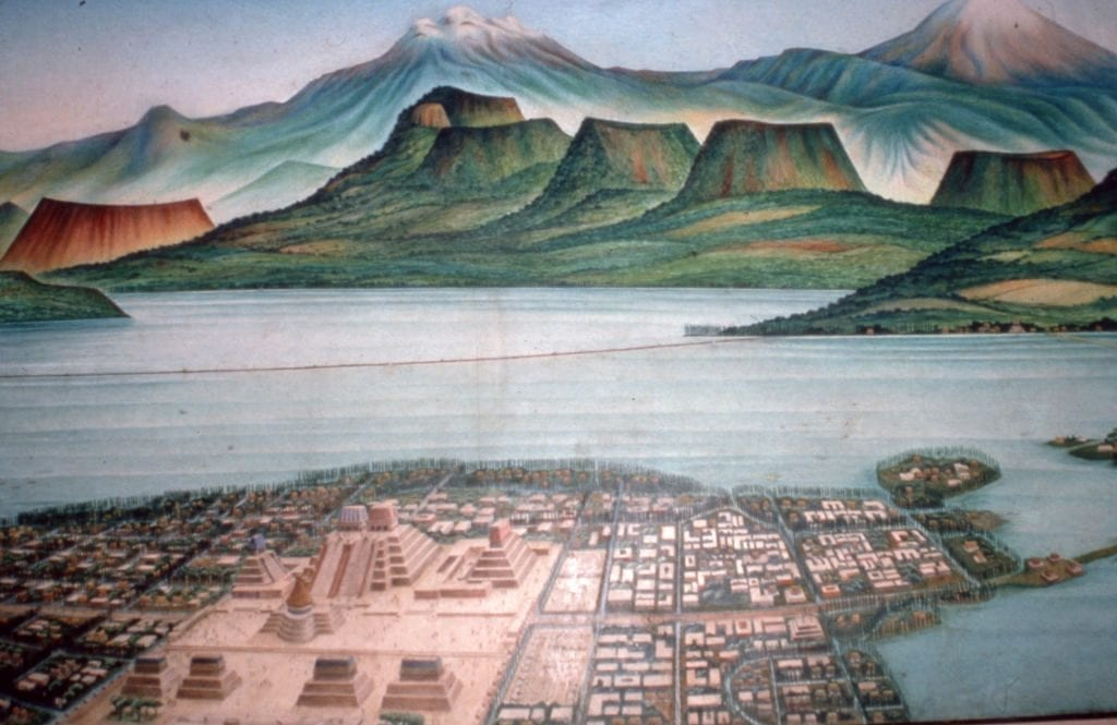Ancient city of Tenochtitlan