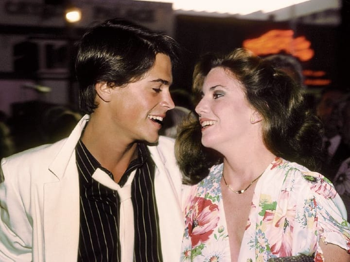 Rob Lowe and Melissa Gilbert, dated, celebrities