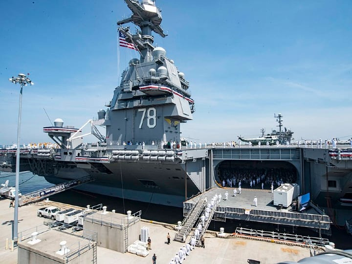 USS Gerald Ford, warship, US Navy