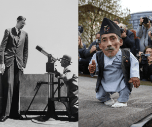 The tallest and shortest man in the world, Robert Wadlow and Chandra Bahadur Dangi