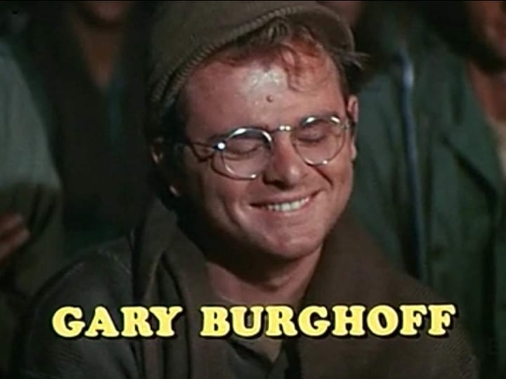 Gary Gurghoff, Radar, actor, movie and show