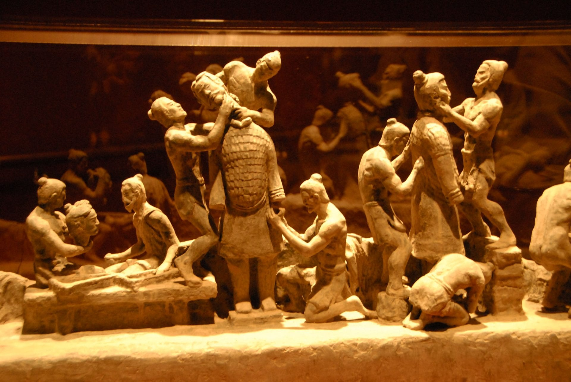 Terracotta-warrior-army-Emperor-Qin-Shi-Huang-first-emperor-of-China-assembly-line