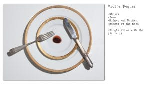 Victor Feguer requested a single olive pitted for his last meal