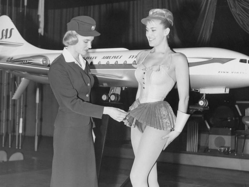 vintage-air-travel-stewardess-flight-attendant-glamorous-in-flight-travel-SAS-Birgitta-Lindman