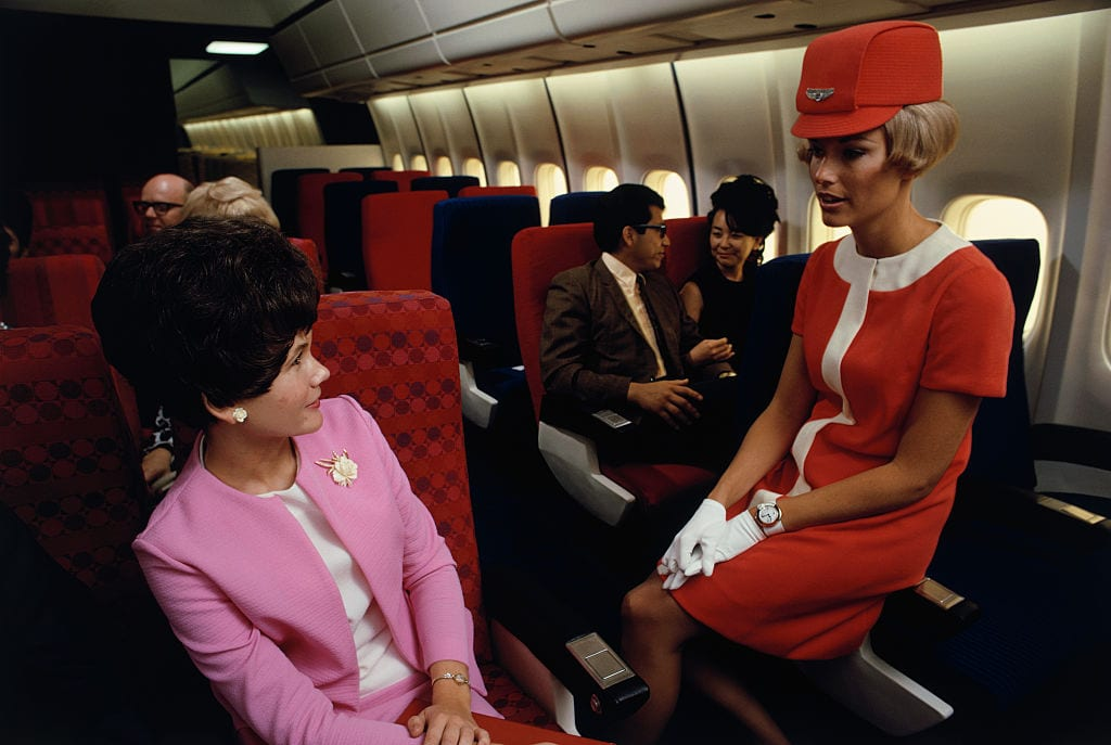 vintage-air-travel-stewardess-flight-attendant-glamorous-in-flight-travel