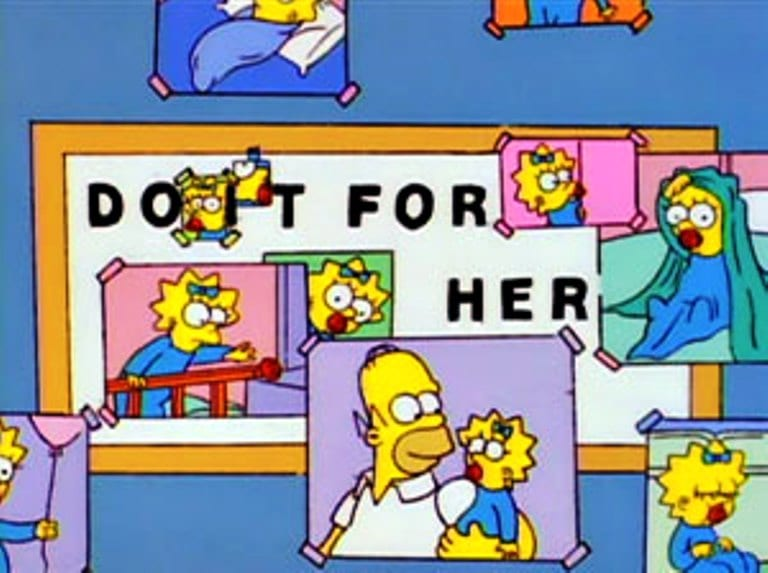 The-Simpsons-predictions-of-the-future-And-Maggie-makes-three