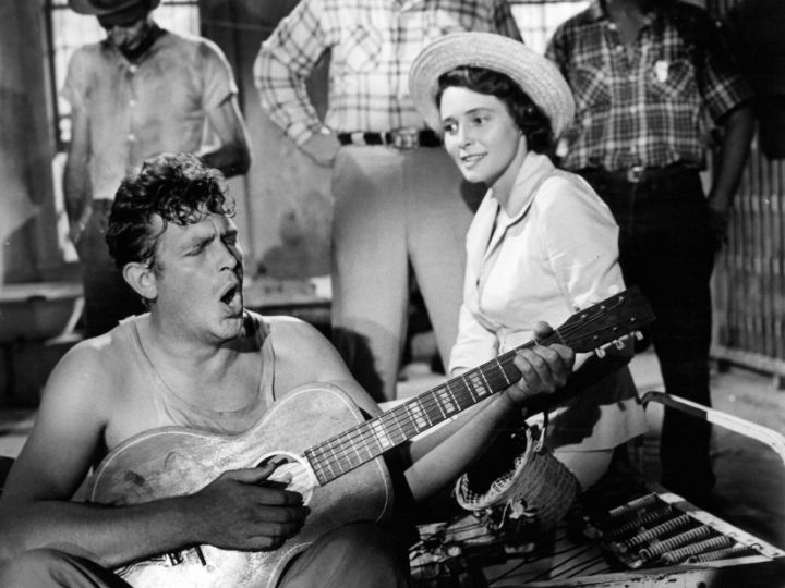 Andy Griffith playing guitar, singing