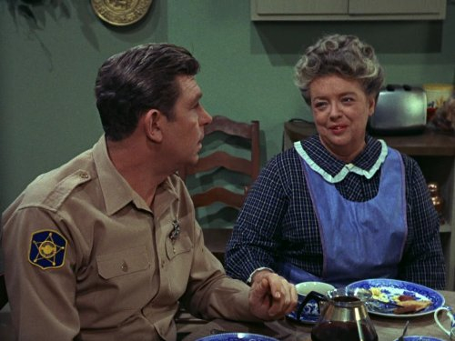 Andy Griffith, talking, Aunt Bee