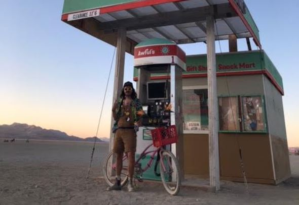 Burning-Man-concert-festival-arts-2019-gas-station-costumes-bicycle