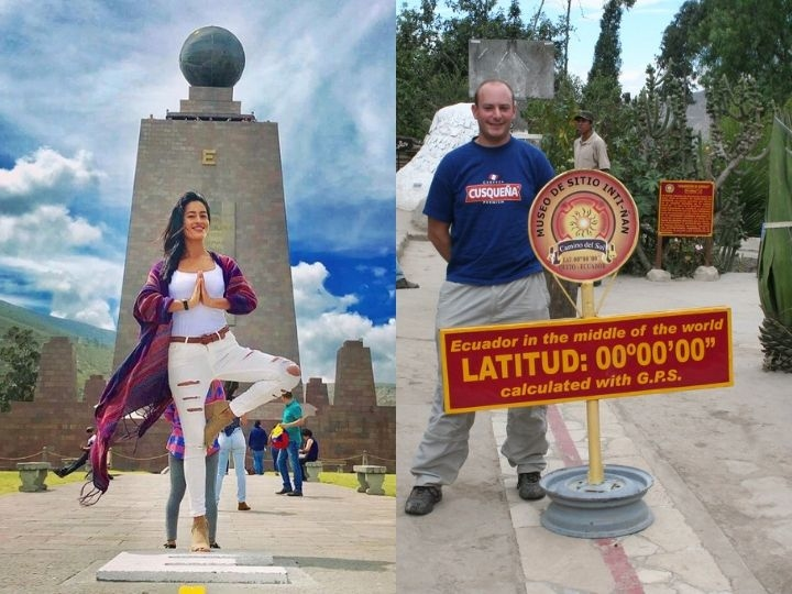 comparison Equator, Longitude and Latitude, Ecuador
