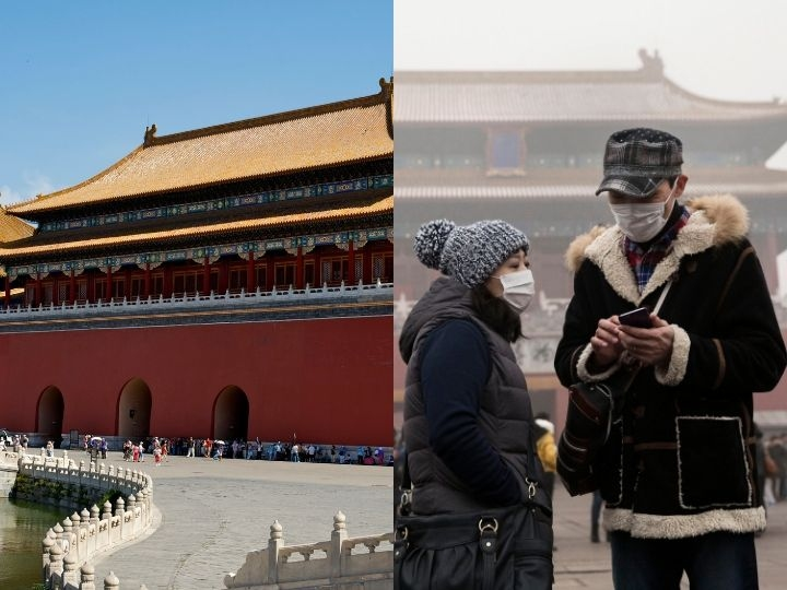 Chinese tourists wear masks as protection from the pollution outside the Forbidden City during a day of high pollution on December 1, 2015 in Beijing, China. China's capital and many cities in the northern part of the country recorded the worst smog of the year with air quality devices in some areas unable to read such high levels of pollutants. Levels of PM 2.5, considered the most hazardous, crossed 600 units in Beijing, nearly 25 times the acceptable standard set by the World Health Organization