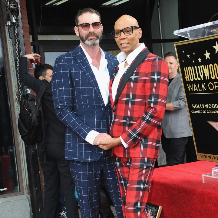 Georges LeBar and RuPaul Charles
