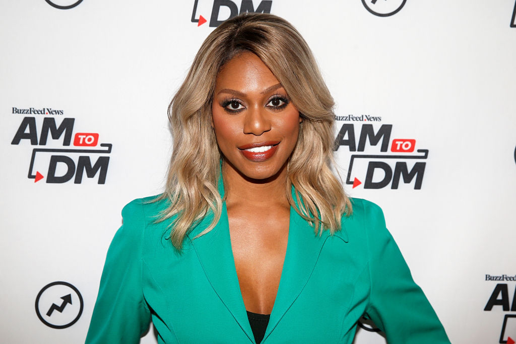 """NEW YORK, NEW YORK - OCTOBER 07: Laverne Cox attends BuzzFeed's """"AM To DM""""  on October 07, 2019 in New York City."""