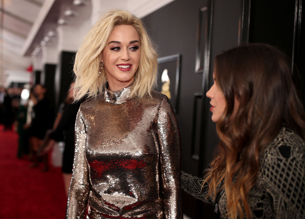 LOS ANGELES, CA - FEBRUARY 12: Singer Katy Perry attends The 59th GRAMMY Awards at STAPLES Center on February 12, 2017 in Los Angeles, California.