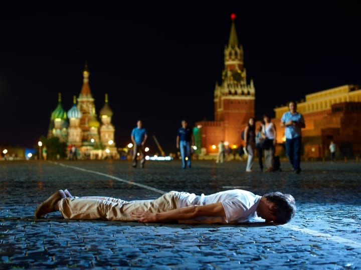 Russian planking Moscow