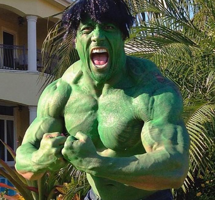"Dwayne-""the-Rock""-Johnson-The-Hulk-celebrity-famous-people-Halloween-costumes"