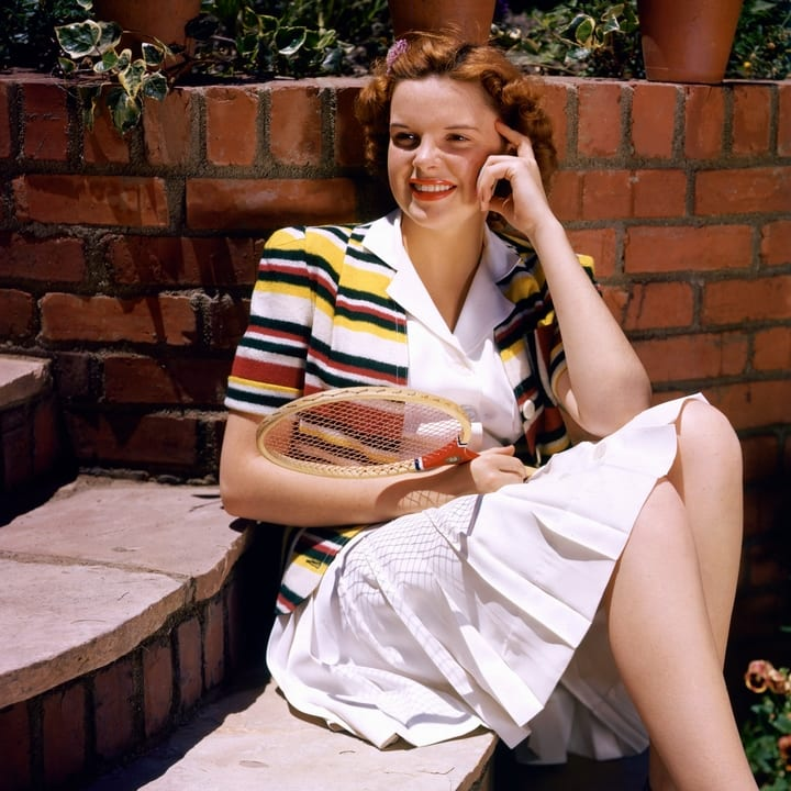A colorized photo of Judy Garland