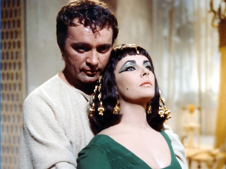 Richard Burton and Liz Taylor in Cleopatra