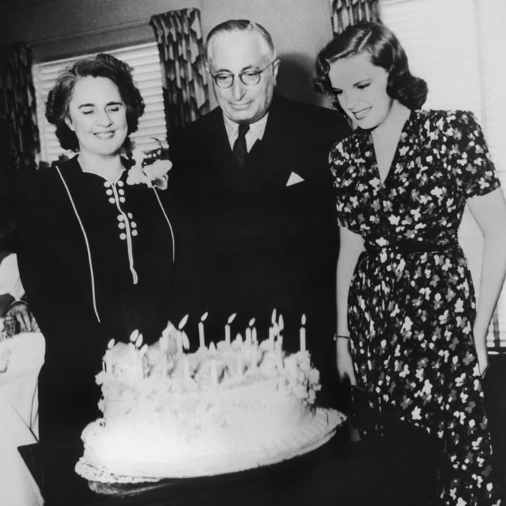 Judy Garland celebrating her 18th birthday
