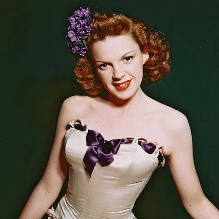 Judy Garland in Purple