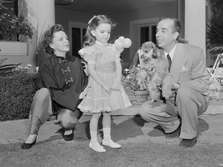 Judy Garland with family