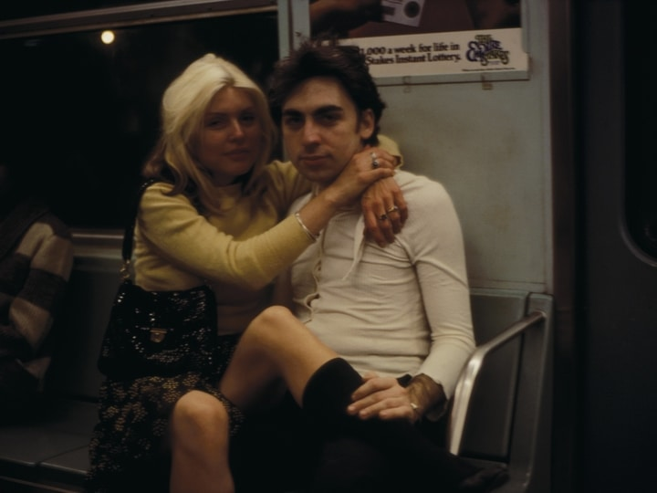 Debbie Harry and Chris Stein in subway