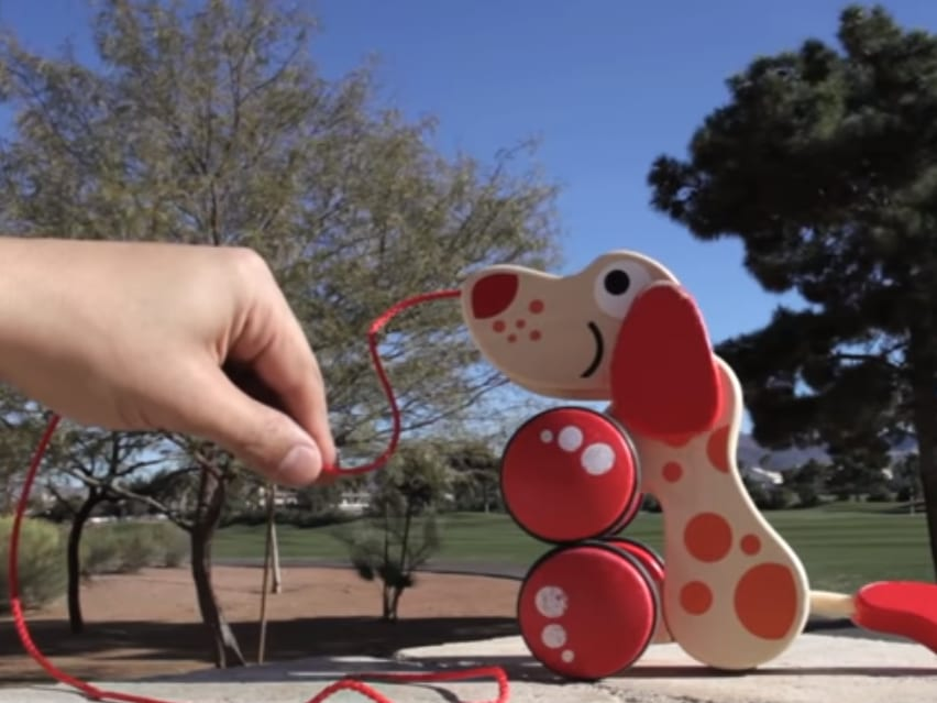 pull along dog toy