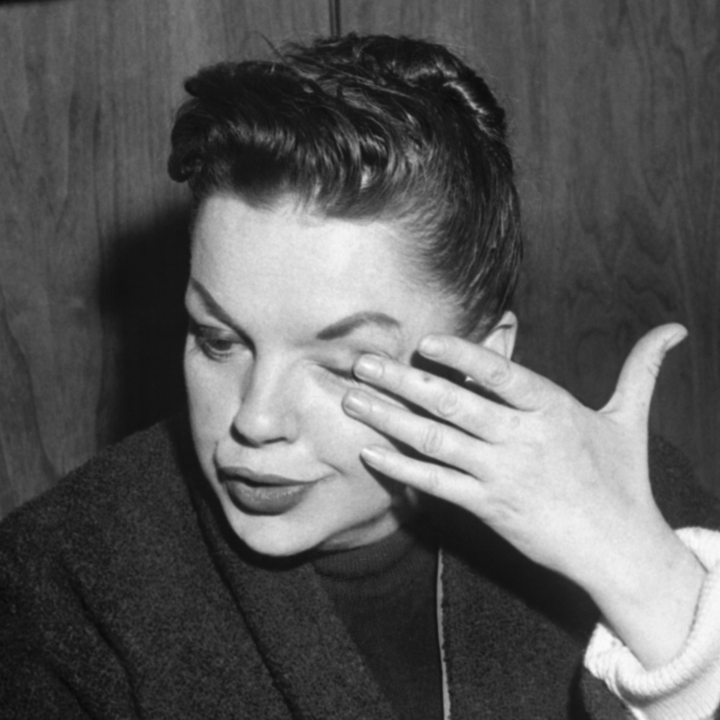 Judy Garland crying