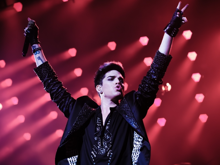 adam lambert performing onstage