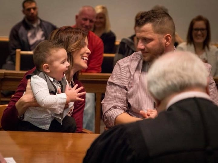 Toddler says one word at adoption, stuns courtroom