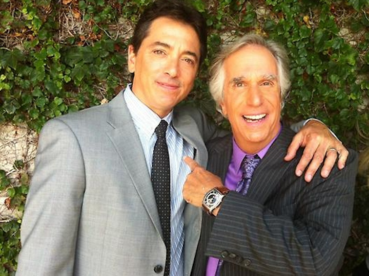henry winkler and scott baio on arrested development