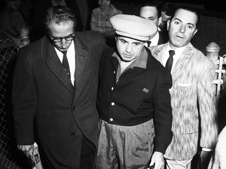 gangster Mickey Cohen with lawyer