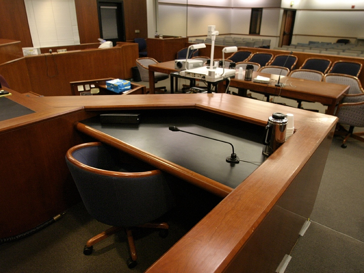 courtroom, empty court, hearing