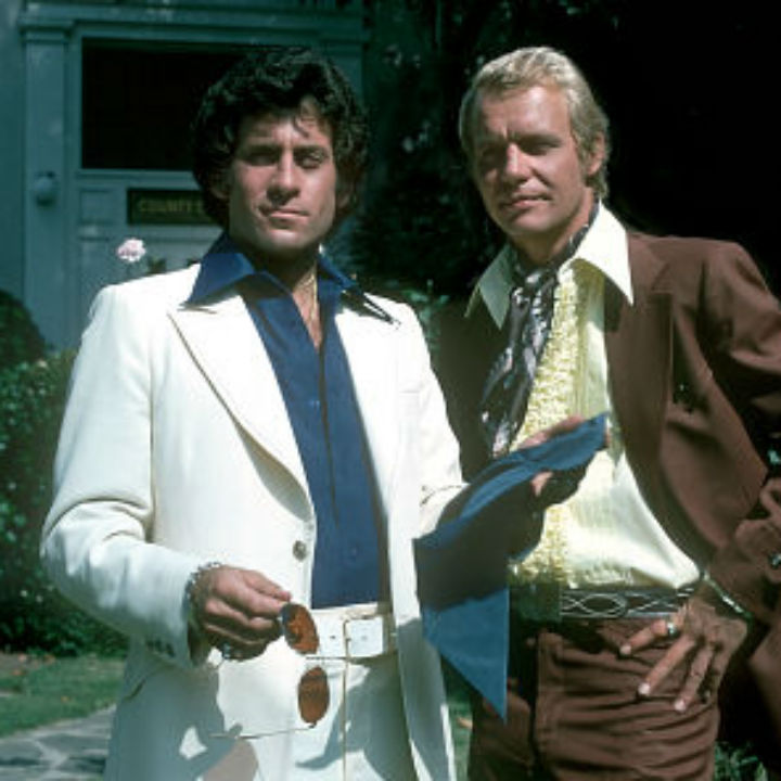 Starsky in a white suit