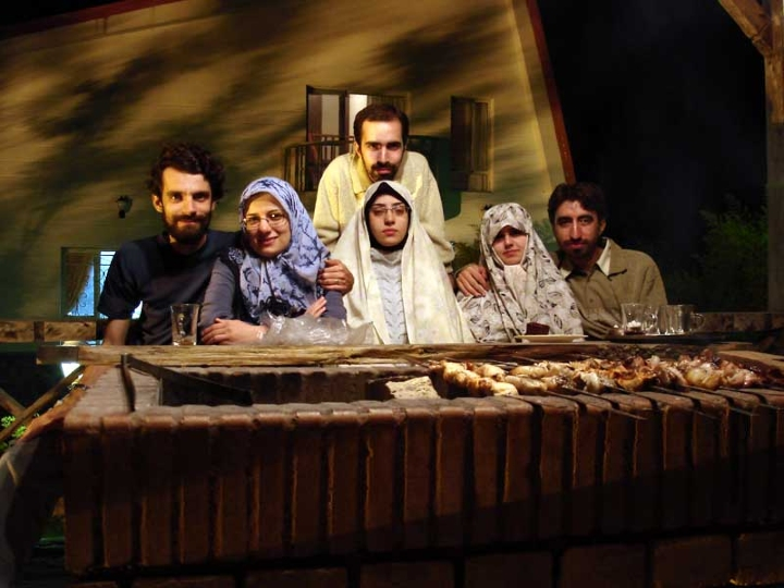 Iran, dinner, seated at table, family