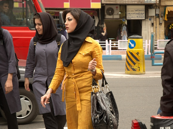 woman in Tehran, Iran, Hijab