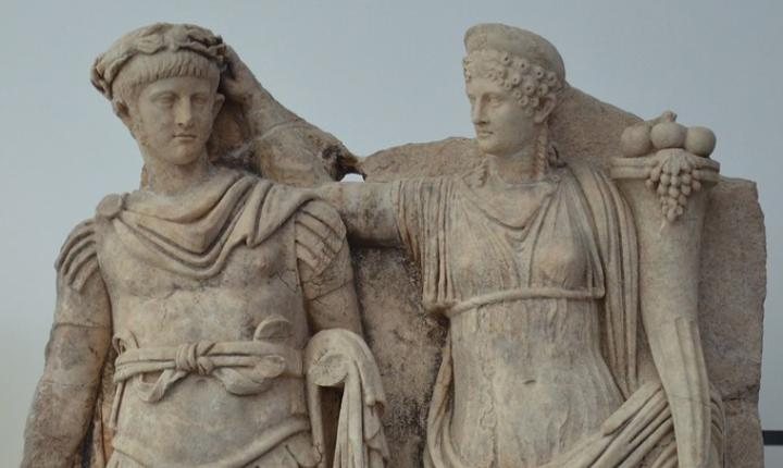 Relief from the Sebasteion depicting Nero and Agrippina, Aphrodisias Museum