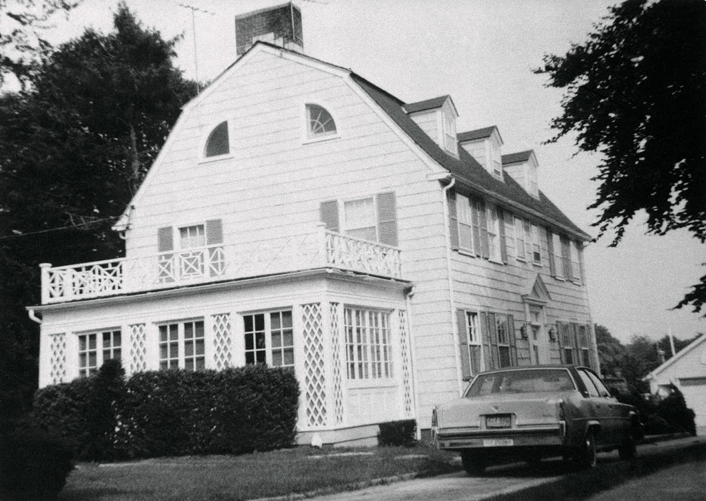 View of the home of Ronald DeFeo Sr.,the car salesman, his wife, two daughters and two sons were found shot to death on 11/14/1974. Ronald DeFeo Jr., 23, the only surviving member of the family, who called the police to report the slayings, was being questioned by police. The Amityville Horror is based on this case.